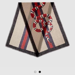 Gucci - GUCCI ウェブ&スネーク スカーフ