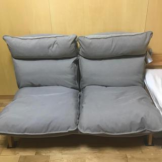 ムジルシリョウヒン(MUJI (無印良品))の無印良品ハイバックリクライニングソファ2シーター(二人掛けソファ)