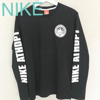 ナイキ(NIKE)の★未使用★NIKE ロンT 黒 Mサイズ メンズ  両腕ロゴデザイン(Tシャツ/カットソー(七分/長袖))