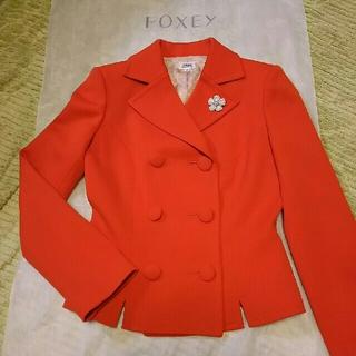 フォクシー(FOXEY)の美品❇フォクシー❇FOXEY ウールジャケット40(テーラードジャケット)