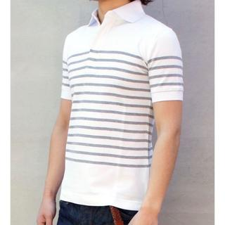 エイケイエム(AKM)の一度着用27000円 AKM 鹿の子ポロシャツ wjkジュンハシモト(シャツ)