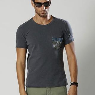 ダブルジェーケー(wjk)の新品タグ付10800円 wjk 18SS レザーカモフラポケットTシャツ AKM(シャツ)