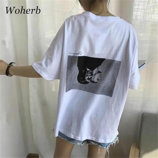 韓国ファッション 人気!バックプリントTシャツ(Tシャツ(半袖/袖なし))