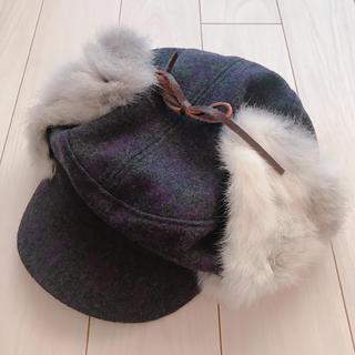 イーハイフンワールドギャラリー(E hyphen world gallery)の【送料無料】イーハイフン ファー帽子(ハンチング/ベレー帽)