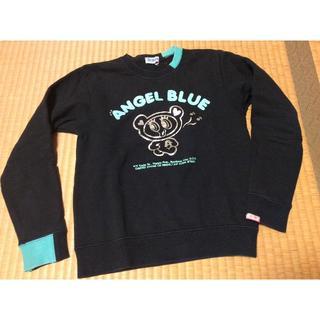 エンジェルブルー(angelblue)の130  エンジェルブルー  黒のトレーナー(Tシャツ/カットソー)