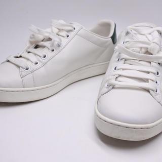 グッチ(Gucci)のGUCCI グッチ スニーカー 靴 ホワイト 34 レディース ミケーレ 正規(スニーカー)