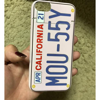 マウジー(moussy)のmoussy ミラー付きiPhone case(iPhoneケース)
