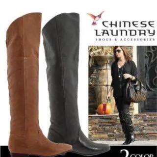 チャイニーズランドリー(CHINESE LAUNDRY)の未使用◆chinese laundry ローヒール ニーハイブーツ(ブーツ)