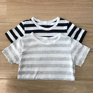 MUJI (無印良品) - 無印良品 ボーダーTシャツ 2枚組