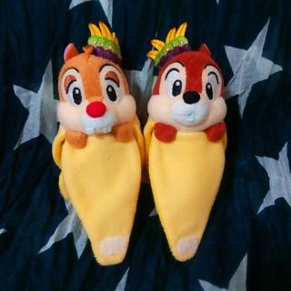ディズニー(Disney)のディズニーシー チップ デール■バナナ ぬいぐるみバッジ ヌイバ■トロスプ(キャラクターグッズ)