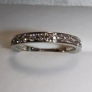ヨンドシー(4℃)の【美品】4℃♥️Pt950 ハーフエタニティダイヤモンドリング(リング(指輪))