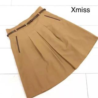 【新品未使用】Xmiss ♡ キスミス ベルト付きスカート キャメルM