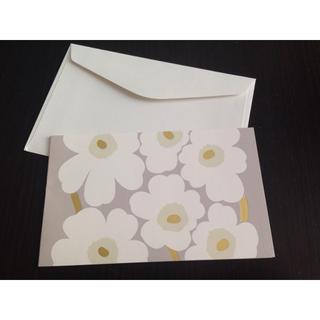 マリメッコ(marimekko)のマリメッコ / ウニッコ柄 封筒+カード(その他)
