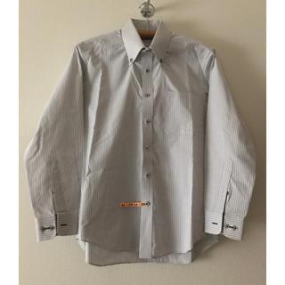 【クリーニング済】長袖 ワイシャツ Mサイズ ストライプ(シャツ)