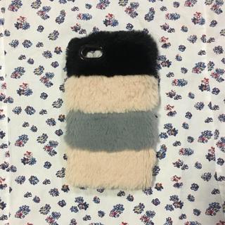 ザラ(ZARA)のZara フェイクファー iPhoneケース(iPhoneケース)