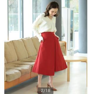 デミルクスビームス(Demi-Luxe BEAMS)のワンタックAラインスカート デミルクスビームス (ひざ丈スカート)