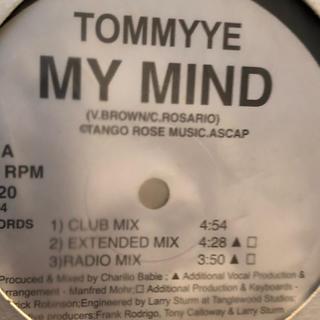 TOMMYYE / MY MIND レコード(R&B/ソウル)