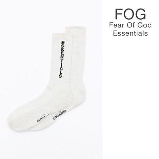 フィアオブゴッド(FEAR OF GOD)の込 Fog Essentials socks ソックス  白(ソックス)