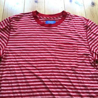 アディダス(adidas)のadidas アディダス ボーダー Tシャツ サイズM(Tシャツ/カットソー(半袖/袖なし))