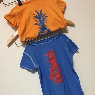 ジャングルロコ(JUNGLE ROCO)のTシャツ リンクコーデ 90 110 ロコネイル キッズ パイナップル 半袖 (Tシャツ/カットソー)