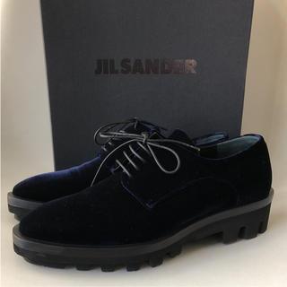 ジルサンダー(Jil Sander)の未使用保管  JIL SANDER 17AW  ベルベットレースアップシューズ(ローファー/革靴)