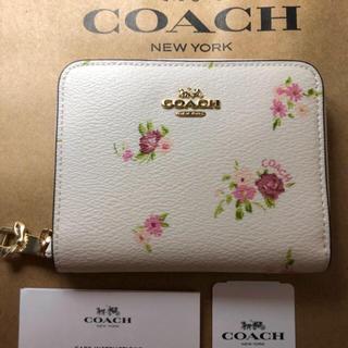 コーチ(COACH)の【正規品】 コーチ ホワイト 花柄 折り財布(財布)