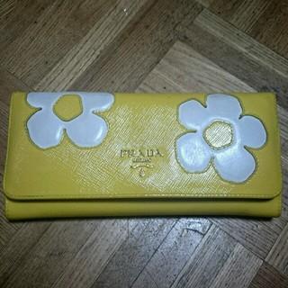 プラダ(PRADA)のPRADAレア♥お花柄長財布(財布)