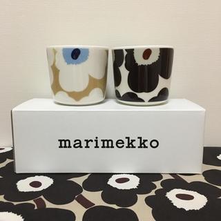 マリメッコ(marimekko)のmarimekko マリメッコ UNIKKO 新色ラテマグ 2点 新品送料込(グラス/カップ)