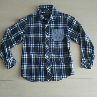 シューラルー(SHOO・LA・RUE)のチェックシャツ 130㎝  (Tシャツ/カットソー)