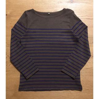 MUJI (無印良品) - 無印良品 オーガニックコットン太番手 パネルボーダー長袖Tシャツ