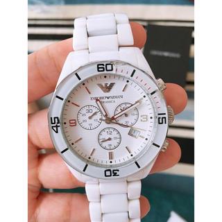 エンポリオアルマーニ(Emporio Armani)のエンポリアルマーニ 腕時計 ホワイト セラミック(腕時計(アナログ))