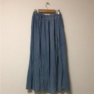 シマムラ(しまむら)のsorridere ロングスカート ブルー 青 水色 しまむら 美品(ロングスカート)