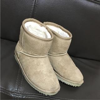 シマムラ(しまむら)の可愛いモコモコムートンブーツ*18cm(ブーツ)