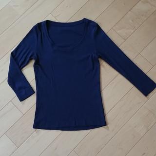 ジーユー(GU)のGUジーユー七分袖カットソーTシャツ丸首M(カットソー(長袖/七分))