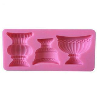 ★新品★即購入OK★モールド 花瓶 3種類 アンティーク フラワーベース(各種パーツ)