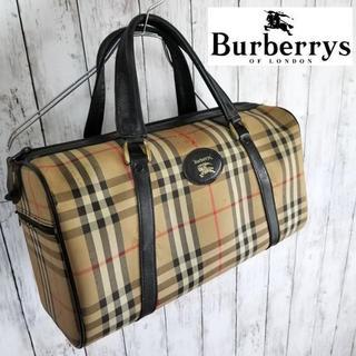 バーバリー(BURBERRY)のBURBERRYS バーバリー ボストン ノバチェック ブラック(ボストンバッグ)