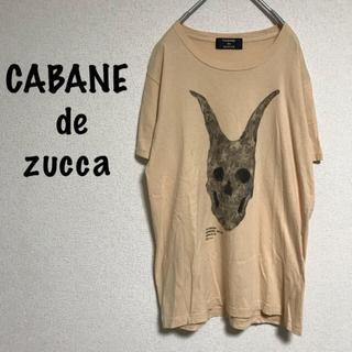 カバンドズッカ(CABANE de ZUCCa)の良品☆ CABANE de zucca 【カバンドズッカ】プリント Tシャツ M(Tシャツ/カットソー(半袖/袖なし))