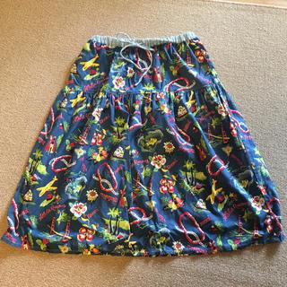 エーズラビット(Asrabbit)のハワイアン柄 切り替えスカート(ひざ丈スカート)