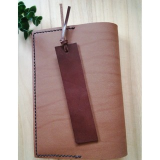 革のしおり Brown ブックマーク Bookmark(しおり/ステッカー)