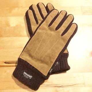 シップス(SHIPS)の【SHIPS/新品】スエード×Thinsalateニットグローブ(手袋)(手袋)