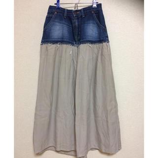 アメリカーナ(AMERICANA)のアメリカーナ デニム 切り替えロングスカート☆(ロングスカート)