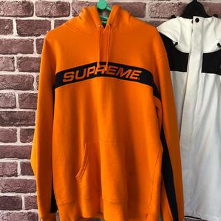 シュプリーム(Supreme)のsupreme 2017ss stripe hooded sweatshrt M(パーカー)