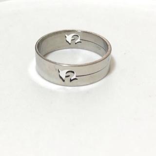 同時購入で300円 ステンレス指輪ドルフィン(リング(指輪))