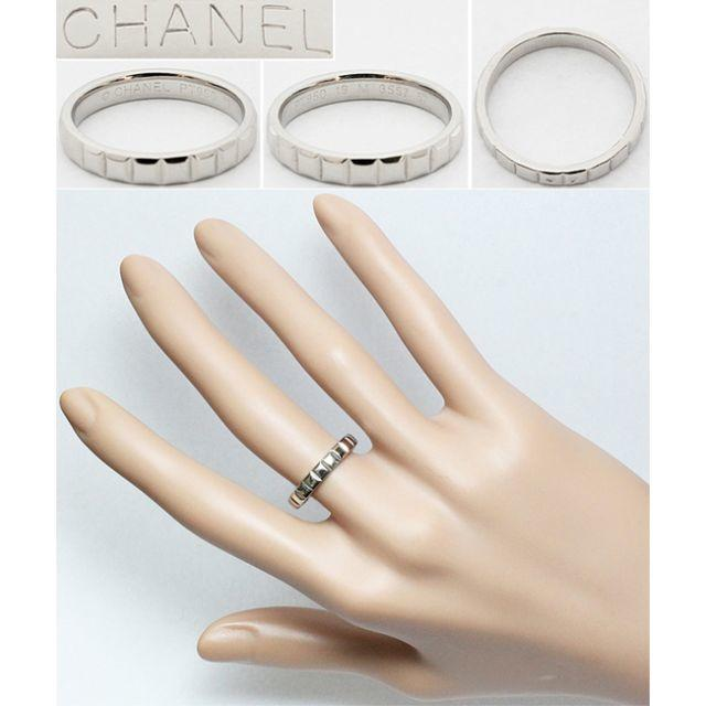 CHANEL(シャネル)のシャネル Pt950 プラチナ リング 指輪 メンズ 16号 16.5号 57号 メンズのアクセサリー(リング(指輪))の商品写真