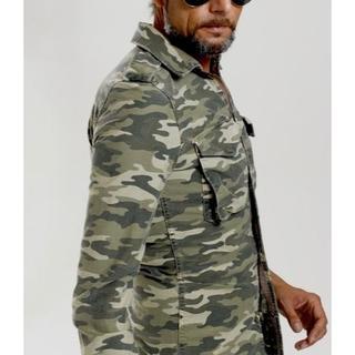 エイケイエム(AKM)の定価35640円 AKM ストレッチミリタリーシャツジャケット wjk(シャツ)