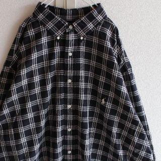 ラルフローレン(Ralph Lauren)のUS ラルフローレン ビッグサイズ 長袖 シャツ blackwhite(シャツ)
