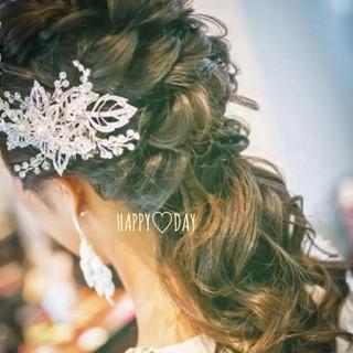 ♪ 結婚式 ブライダル  リーフ フラワー ビジュー ボンネ    ♪(ヘッドドレス/ドレス)