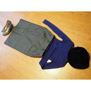 ワコール(Wacoal)のギンガムチェック柄 スカート2点セット(ひざ丈スカート)