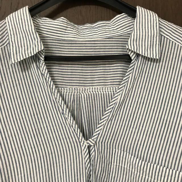 GU(ジーユー)の<GU>ストライプシャツ レディースのトップス(シャツ/ブラウス(半袖/袖なし))の商品写真