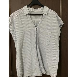 ジーユー(GU)の<GU>ストライプシャツ(シャツ/ブラウス(半袖/袖なし))